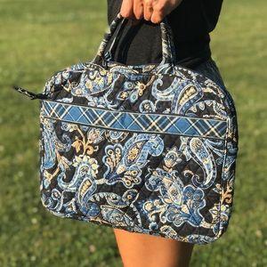 Vera Bradley Laptop Bag Case Windsor Navy